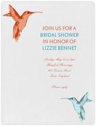 wedding shower paperless post hummingbirds red