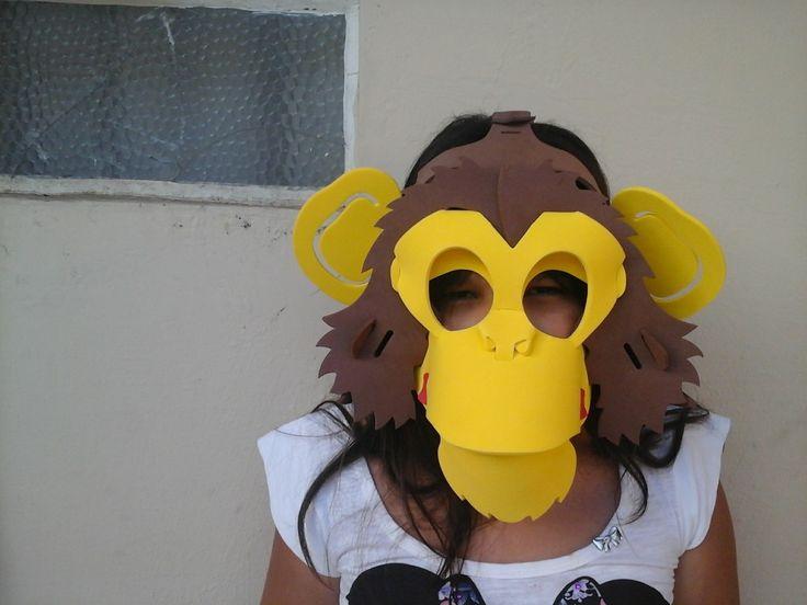 Máscara Macaco - R$ 12,00