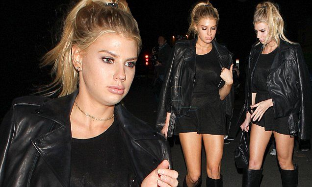 Charlotte McKinney shows off her killer legs in a thigh-skimming LBD