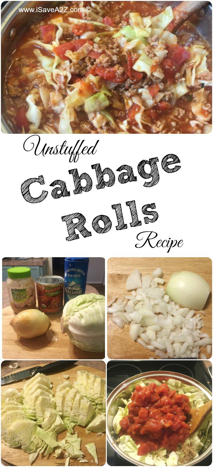Healthy Unstuffed Cabbage Rolls Recipe - iSaveA2Z.com