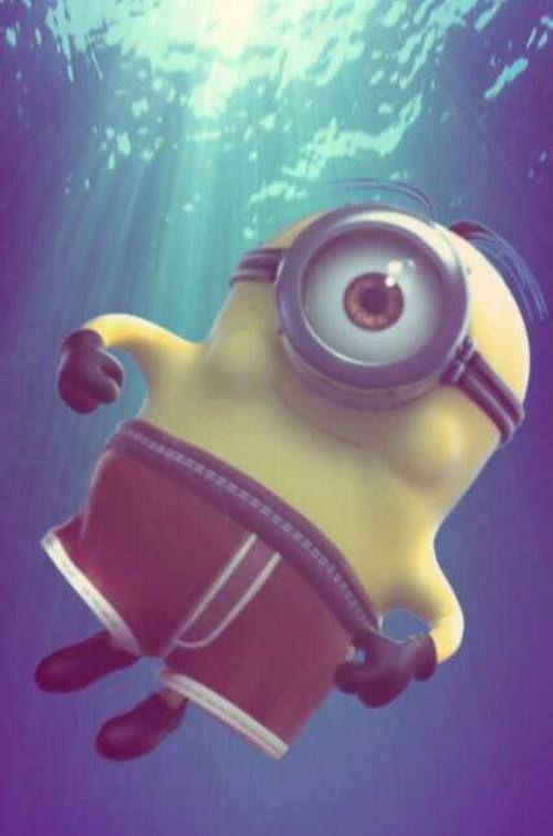 Minion swimming