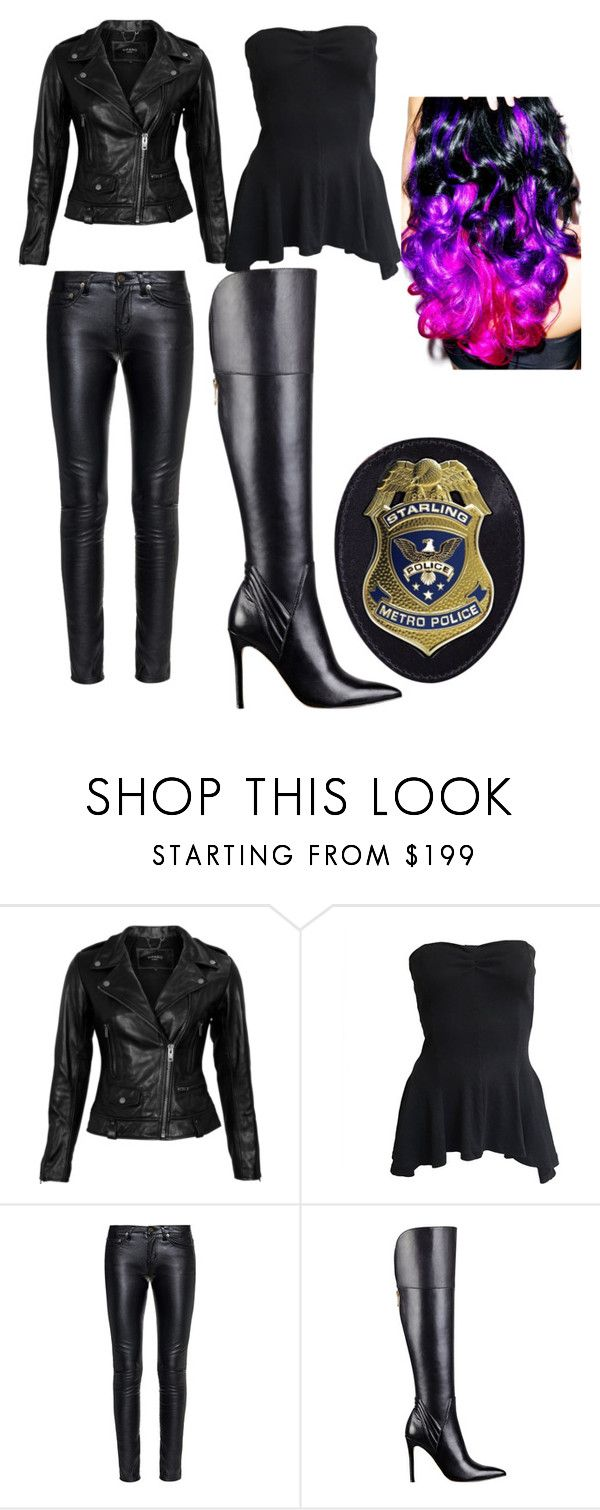 """""""Max's Police Outfit"""" by kikilancaster213 ❤ liked on Polyvore featuring VIPARO, Norma Kamali, Yves Saint Laurent, GUESS and Leg Avenue"""