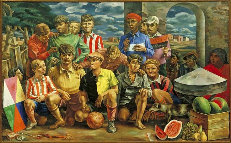 """Antonio Berni, Argentina """"Nueva Chicago Athletic Club"""", 1937, Museo de Arte Moderno (MoMA)"""