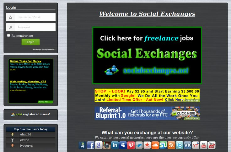http://socialexchanges.net - our latest update.