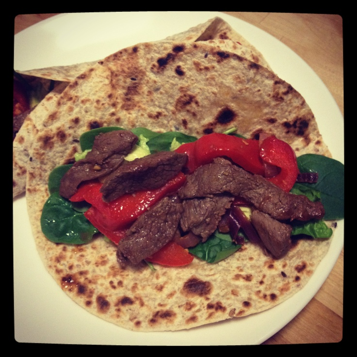 Michelle Bridges Beef Fajhita! Thanks 12WBT!  Foods I Love on this 12wbt journey too! http://12wbtmyjourney.blogspot.com.au/