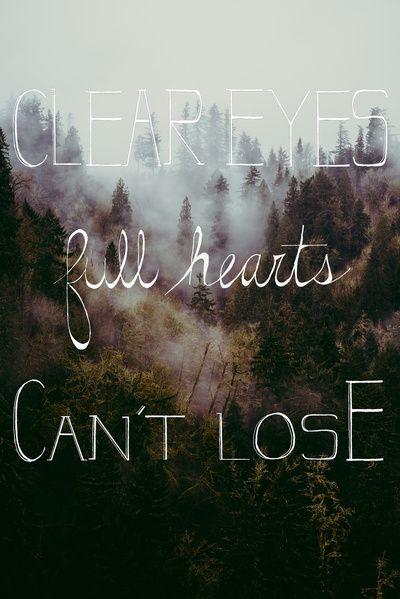 clear eyes full hearts can't lose. Friday night lights @Sacha jordforbindelsen.com jordforbindelsen.com Eliane