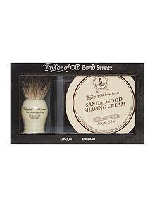 Taylor of Old Bond Street brush & cream shave set