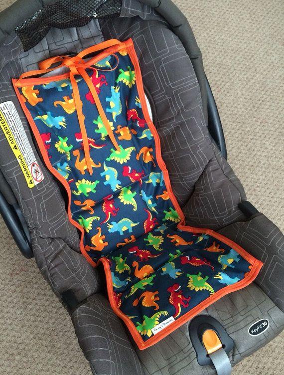Car seat cooler Dinosaur pattern by EmerysMemories on Etsy