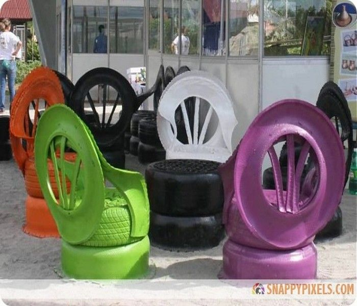 25+ unique Tire chairs ideas on Pinterest   Tyre chairs ...
