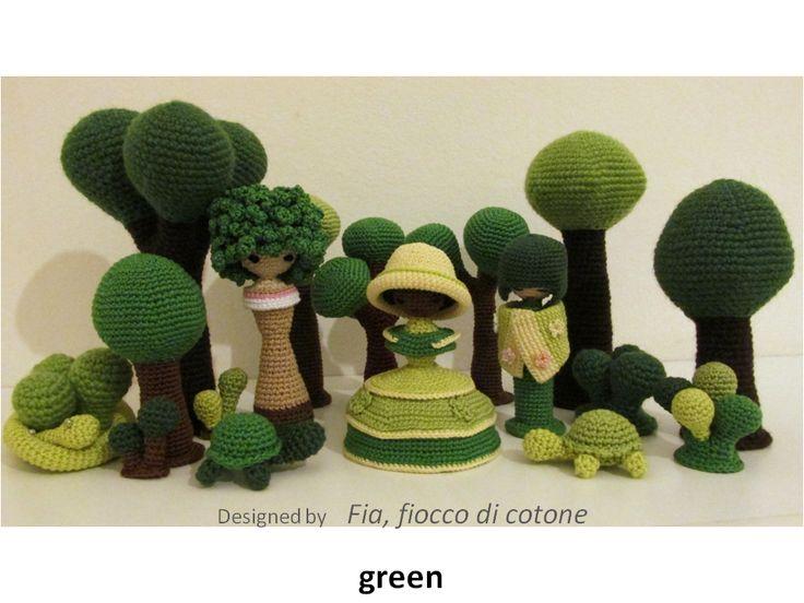 Fia, fiocco di cotone: green
