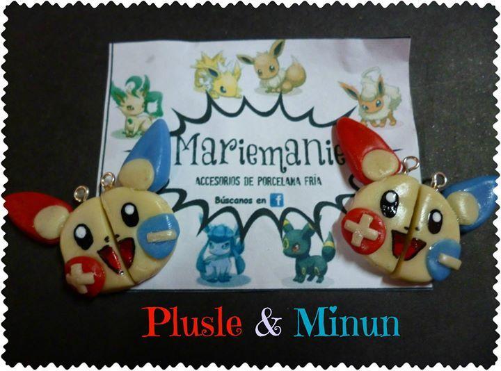 Plusle & Minun Collar para parejas/ mejores amigos