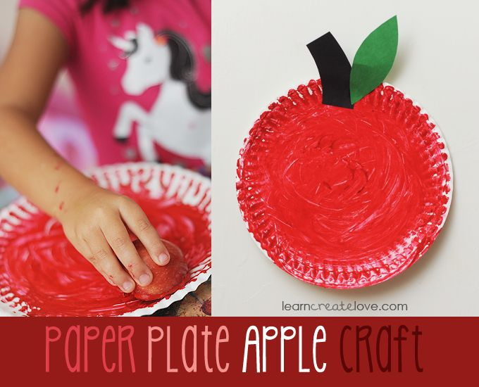 { Paper Plate Apple Craft } A for Apple