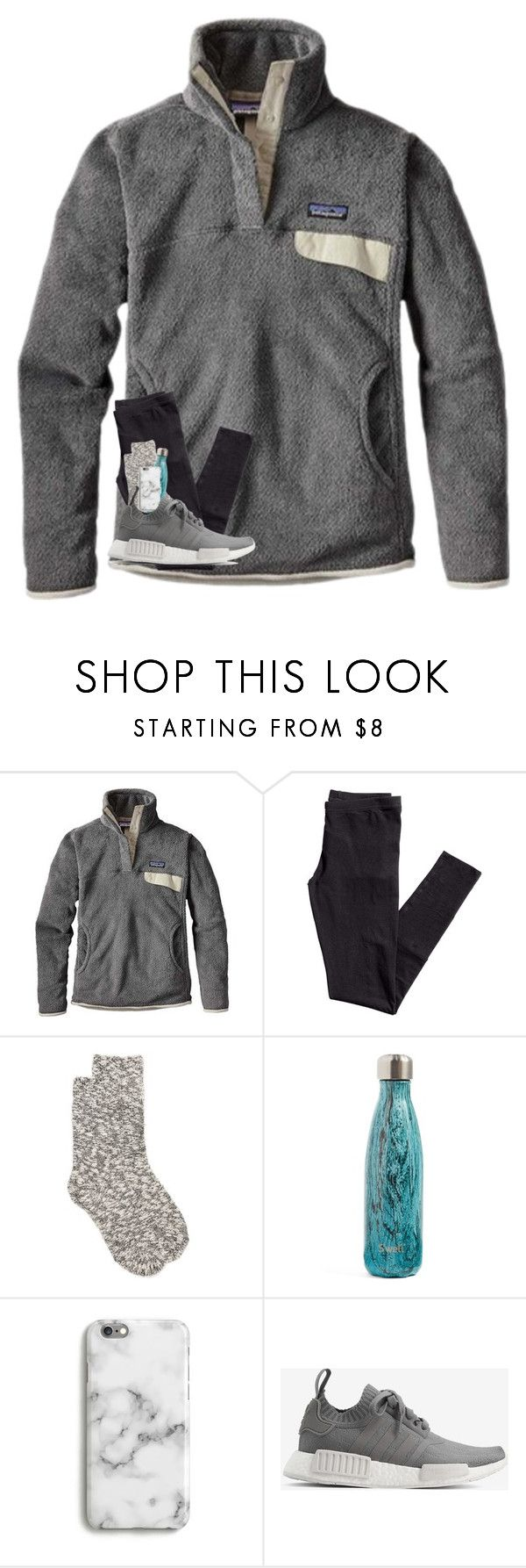 """good night."" by preppy-southerngirl ❤ liked on Polyvore featuring Patagonia, H&M, New Directions, S'well, Harper & Blake and adidas"