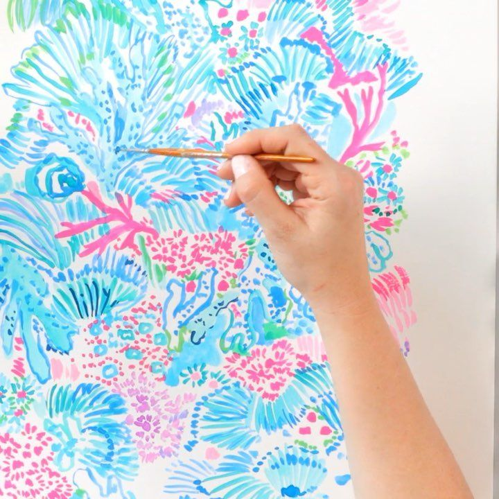 Lilly Pulitzer On Instagram Introducing Sink Or Swim A Print Inspired By The Underwater Treasures Our Prin Lilly Pulitzer Prints Print Artist Lilly Prints