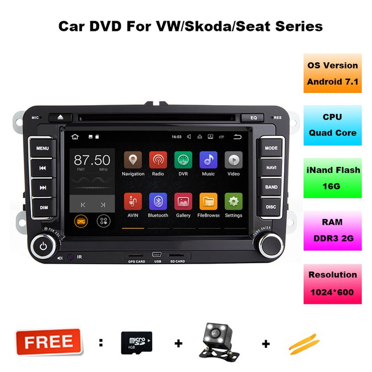 ==> [Free Shipping] Buy Best Android 7.1 Car DVD VW GPS Navigation WifiBluetoothRadio Autoradio 2 Din For Volkswagen GOLF 4 5 6 POLO PASSAT JETTA TIGUAN Online with LOWEST Price | 32815758636