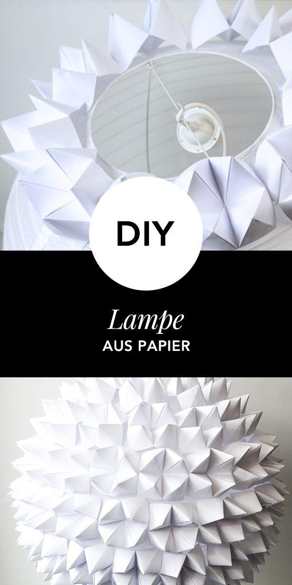 Anleitung Diy Papierlampe Basteln Wohnklamotte Origami Lampen Anleitung Papierlampen Diy Origami Lampenschirm