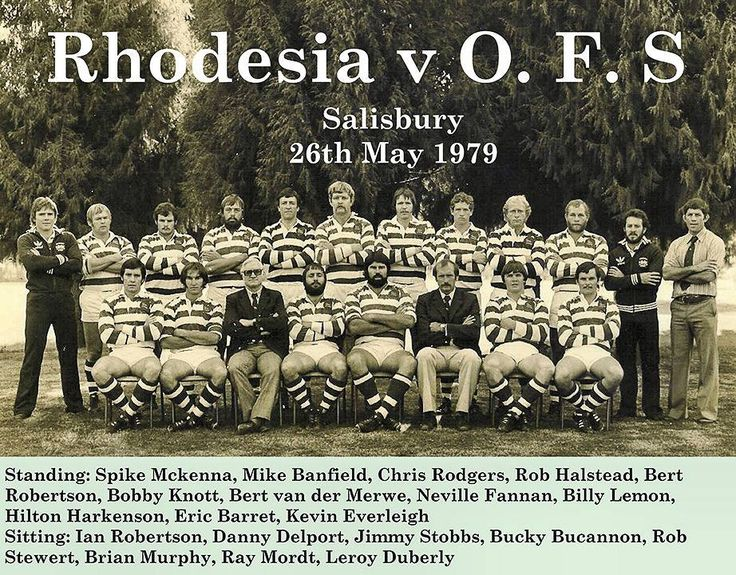 Rhodesia has a good rugby team. We sold our house in Bulawayo to Iain 'Bucky' Buchanan back in the day! Sadly Leroy Duberly was killed on military service in the year this photo was taken