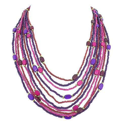 Pretty pink and purple necklace @ R129