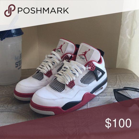 Air Jordan Retro 4 Air Jordan Retro 4s in great condition! Slight paint peel shown in pictures. Comes in Original box! 📦 Jordan Shoes Sneakers