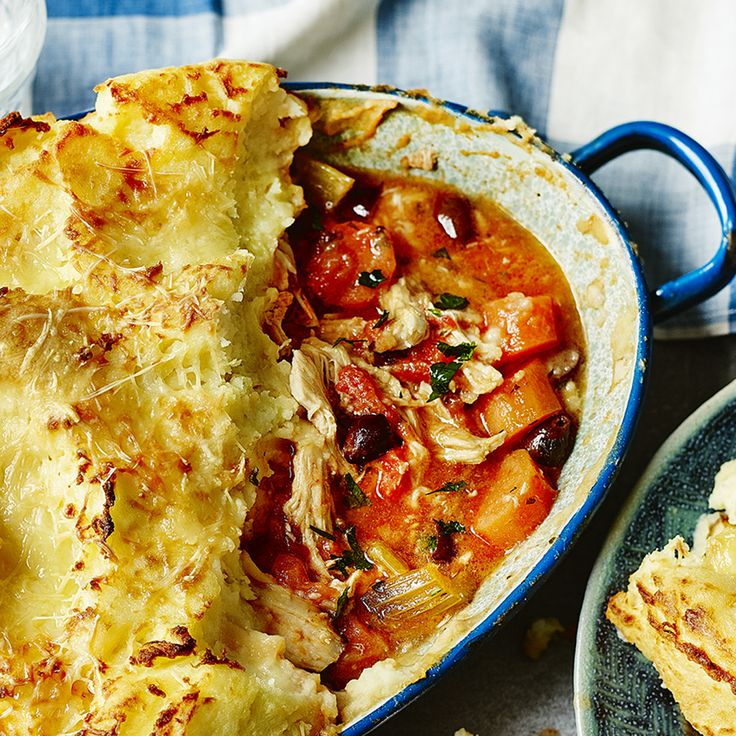 A chicken pie with a difference! Make your weekend all about this French-inspired mash-topped chicken pie. From Rick Stein's Long Weekends.