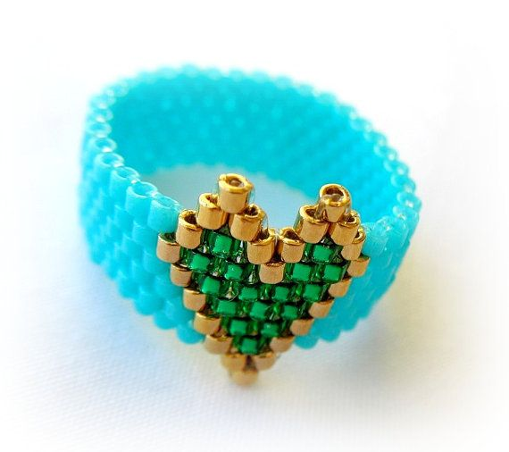 Velentine's RingTurquoise Ring With Gold by MilenasBoutique, $10.00