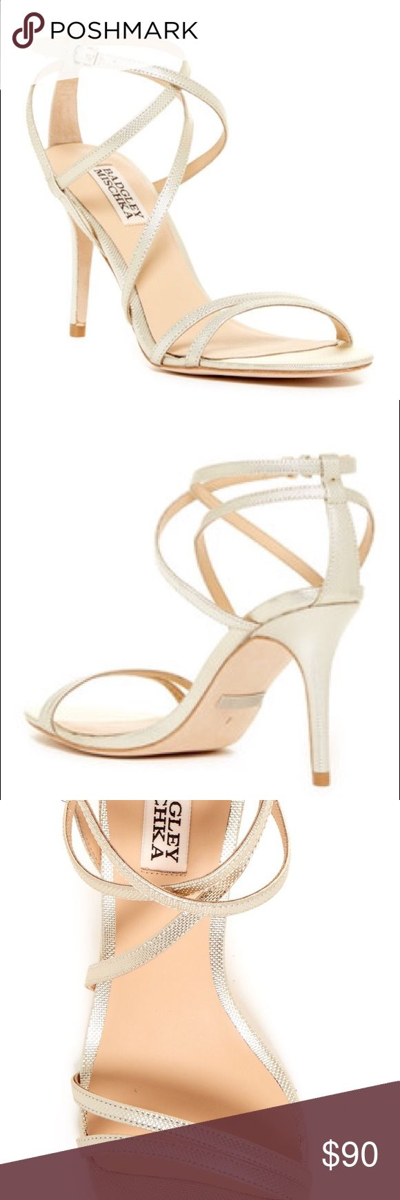 NWT cream/light beige strappy heels NWT Badgley Mishka cream/light beige strappy heels.  So cute and comfy. I bought them for my wedding rehearsal and never ended up wearing them. Brand NEW with box!! Badgley Mischka Shoes Heels