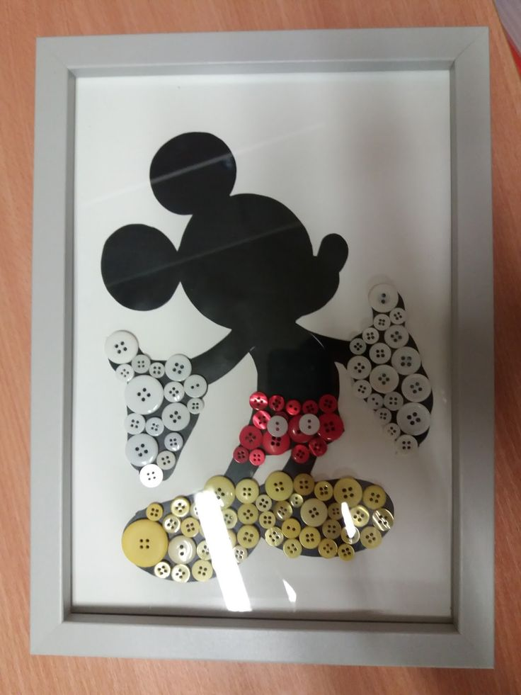 How to make Disney button art