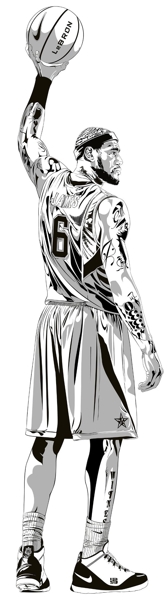 Le Bron James by JD.   www.joshdominguez.com                                                                                                                                                                                 Más