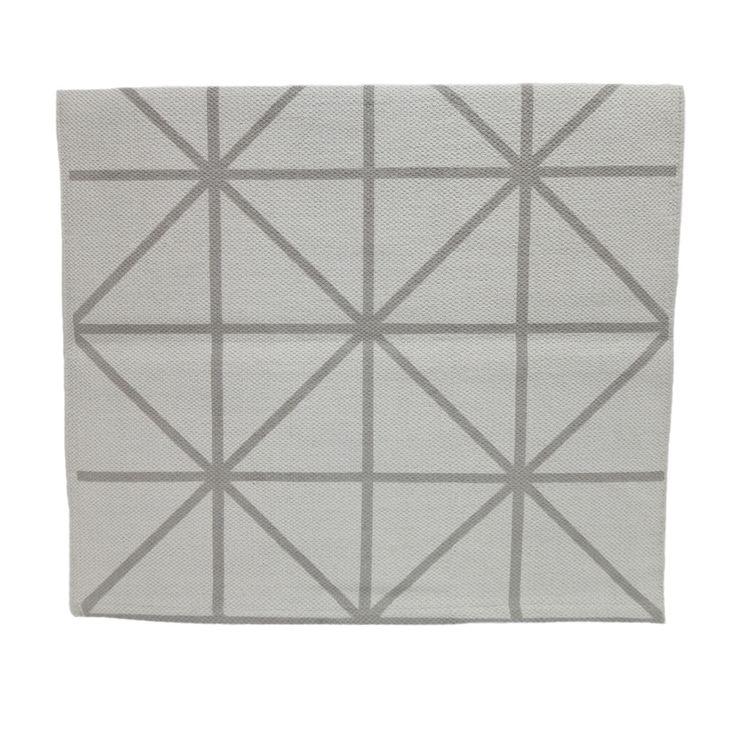 Rug - Grey Diagonal Print