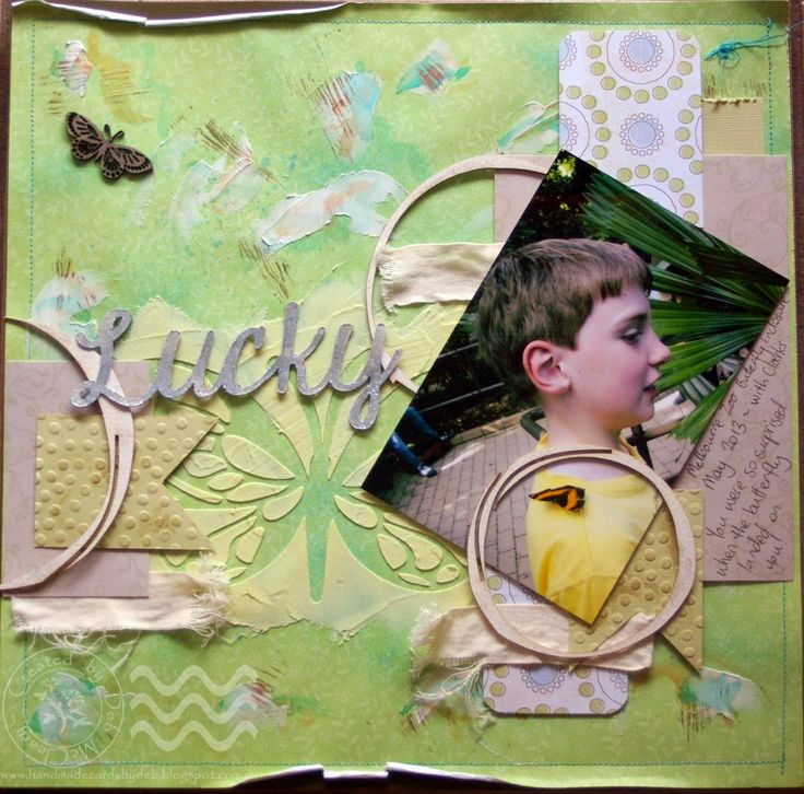 Handmade Cards by Deb:  Entry into the Scrap Around The World February Moodboard