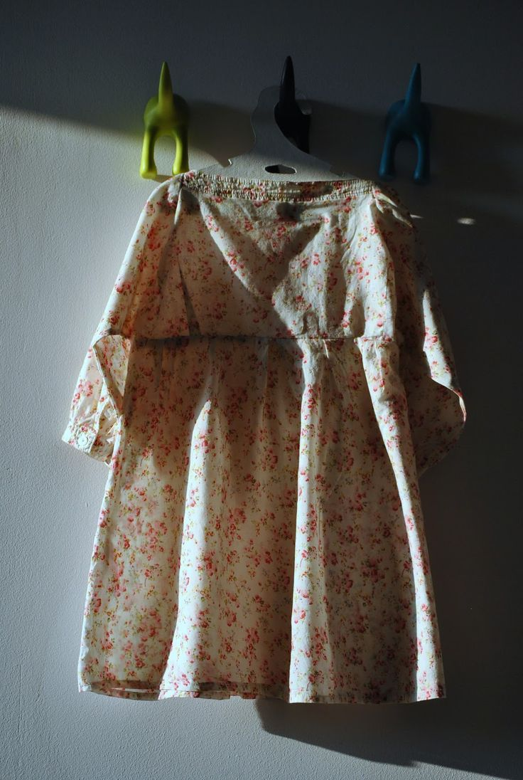 Floral blouse/dress for a girl