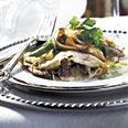 Mushroom Crepes with Poblano Chile Sauce