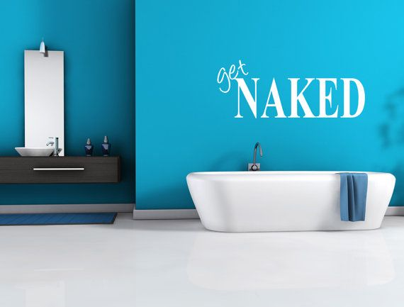 Get Naked Bathroom Wall Decal
