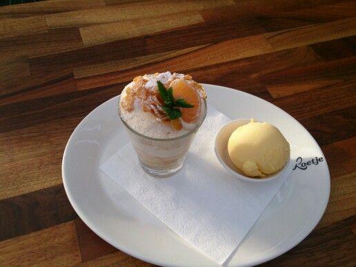 Mandarijn trifle met sinaasappelsorbet