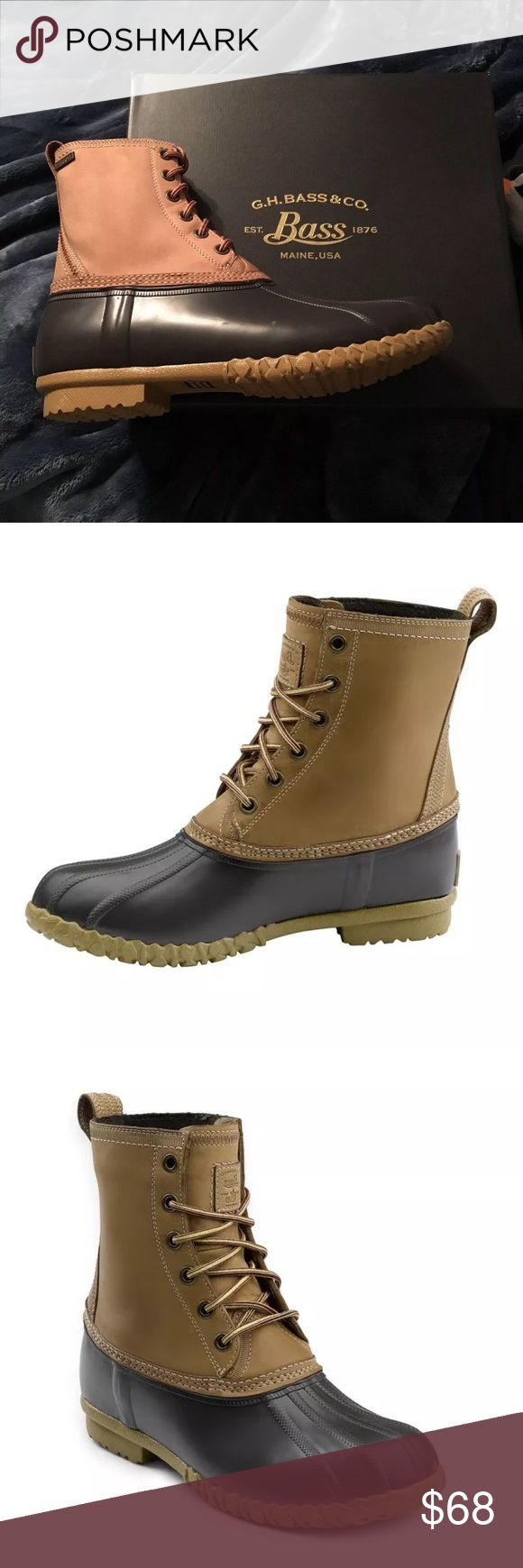G.H Bass Duck Boots men's G.H bass duck boots. brand new in the original box and plastic. retail 135. multiple sizes available. compare to L.L Bean and sperry duck boots. high quality boots L.L. Bean Shoes Boots