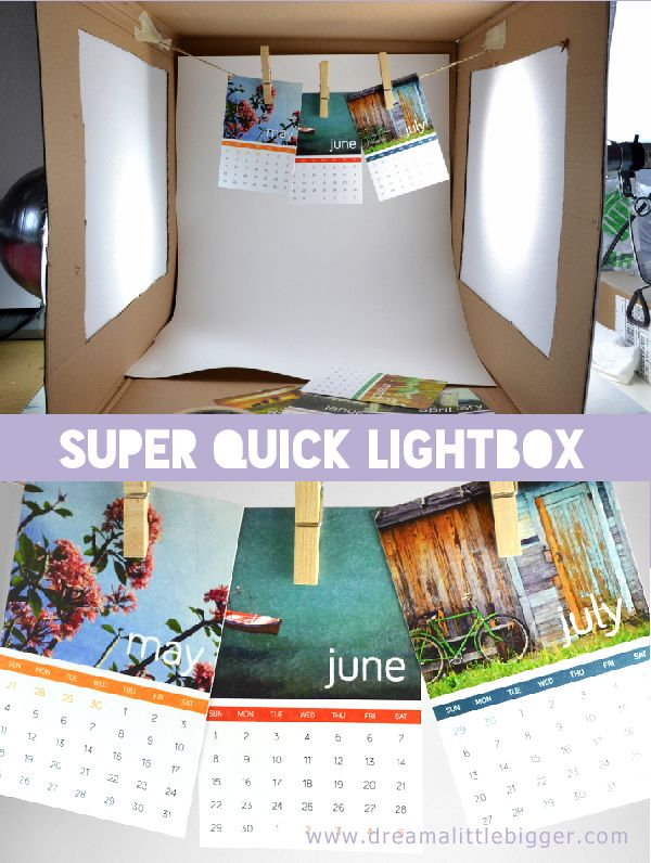 Build a light box to rock your blog photos! | Dream a Little Bigger