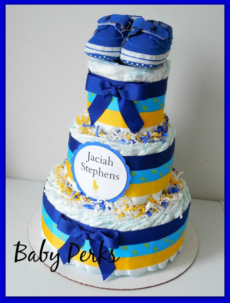 ralph lauren polo sport baby shower diaper cake