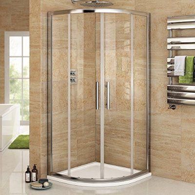 800 x 800 mm Luxury Sliding Quadrant Easy Clean Glass Shower Corner Cubicle Door
