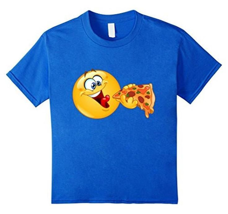 Emoji Emoticon Eating Pizza - Pizza Emoji T-Shirt