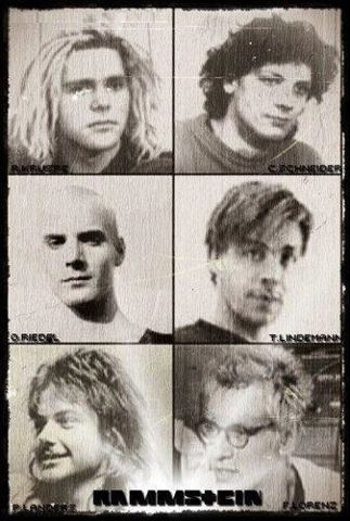 Rammstein band members when they were younger! ♥