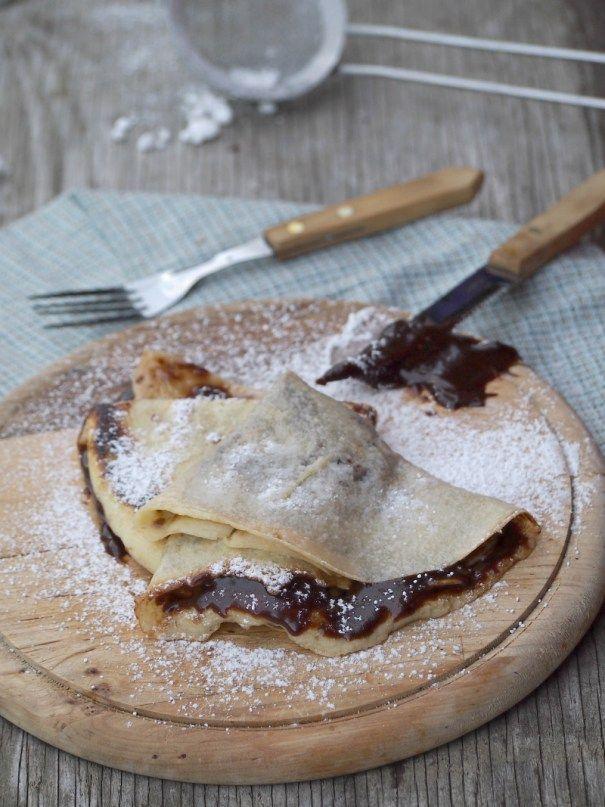italské palačinky s čokoládou