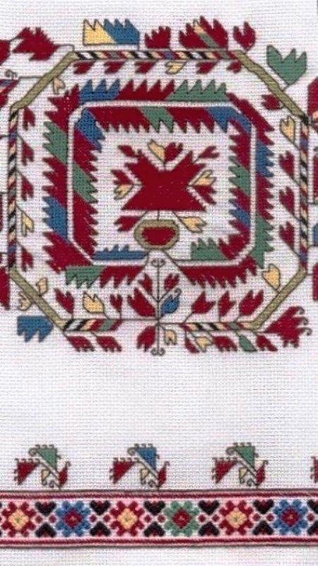 Bulgarian folk embroidery pattern ✳1