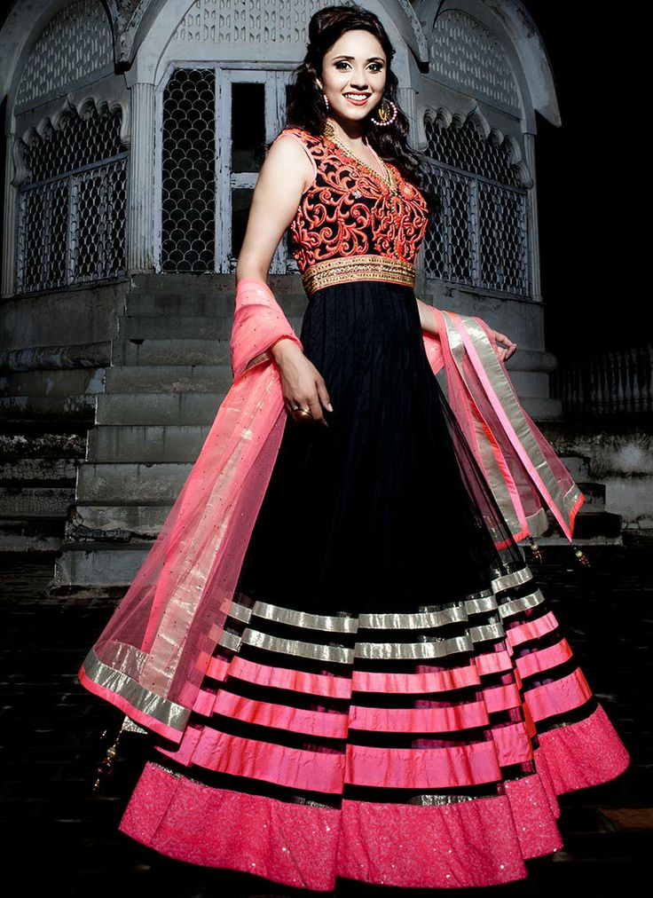 #Black Floor Length #Anarkali #Suit