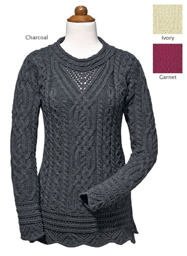 Scalloped-Sleeve Knit Tunic - Made in Ireland