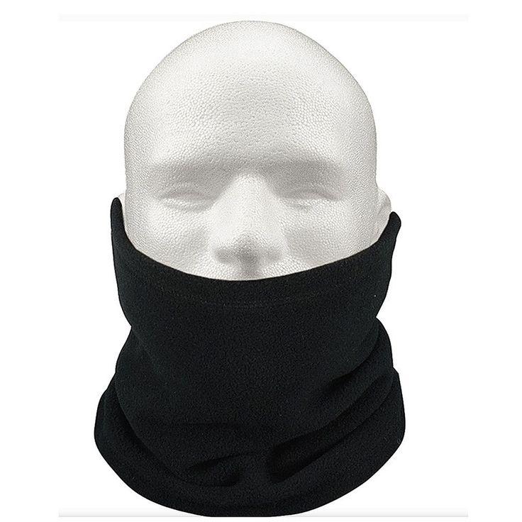 Super sell 3-IN-1 Fleece Neck Warmer Snood Scarf Hat Unisex Ski Wear - Black