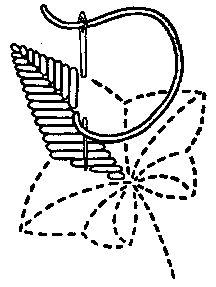 Esquema de bordado para flores y hojas