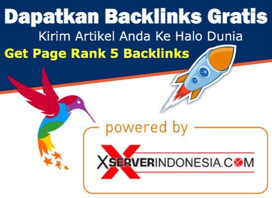 Ingin Punya Backlink PR 5 - PR 7 Gratis...???