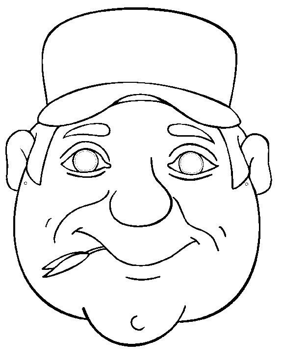 KleuterDigitaal - wb masker boer