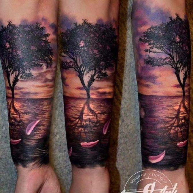 Drzewo Tatuaże Tatuaże Tatuaż I Tatuaże Drzewa
