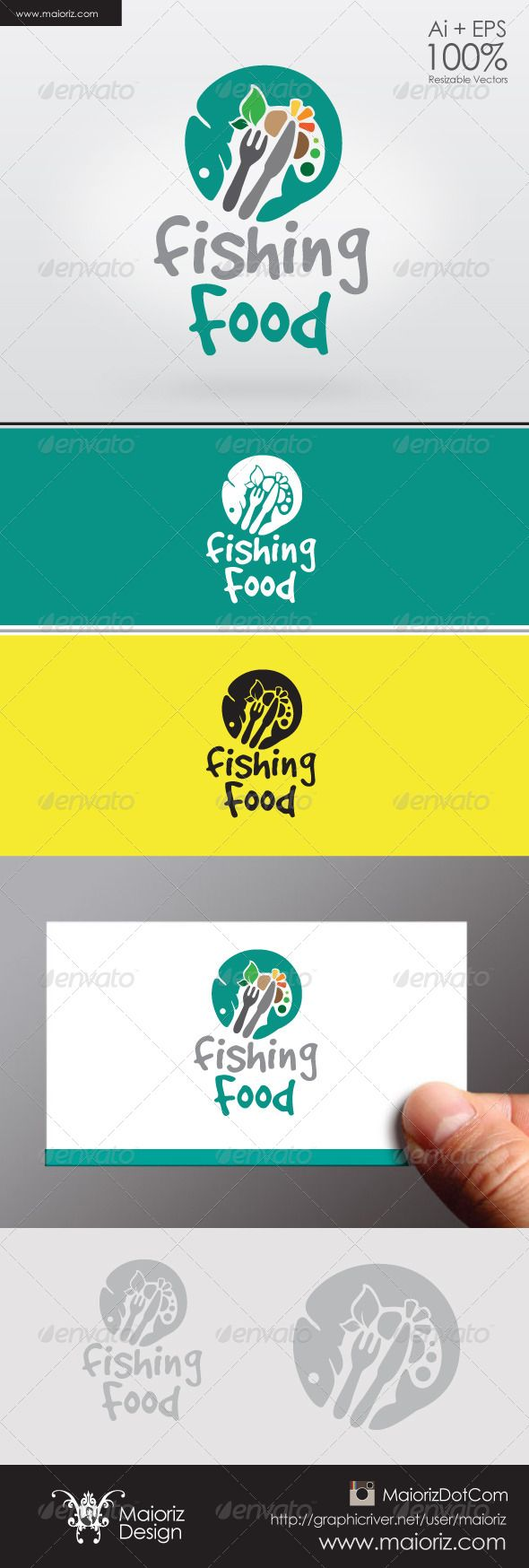 Fishing Food Logo #GraphicRiver